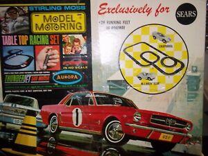 VINTAGE MODEL MOTORING STIRLING MOSS #1950/51 LAYOUT  PLUS ORIGINAL CARS PLUS