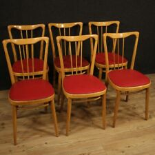 Chairs Armchairs Furniture of Design Wooden and Artificial Skin Red Room Modern