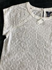 Gap Women's Top/Blouse Size XL White Embroidered Cotton BNWT RRP £34.99