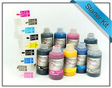 Refillable Starter kit for Epson Stylus Pro 3880 T5801-T5809 Cartridges + Inks