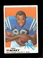 1969 TOPPS #207 JOHN MACKEY VG COLTS HOF *XR24817