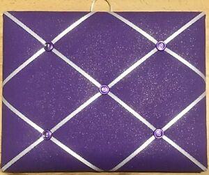 French Bulletin Board Photo Memo Purple Multicolor Sparkle Print 8 x 10 inches