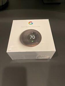 BRAND NEW Google Nest 3rd Gen Learning Thermostat  - Black