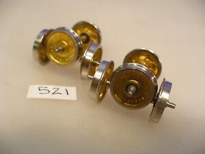 """BRASS ON3 Kodama 26"""" Denver Griffin Wheelsets blunt tip #521 pkg.4"""