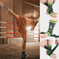 Elastic Neoprene Support Weak Ankle Sleeve Wrap Sports Running Football Sprain