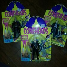 """LOT OF 3 DIFFERENT 1993 CONEHEAD 5 1/4""""ACTION FIGURES NEW ON THE CARD Beldar"""