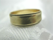 ESTATE 14K SOLID YELLOW GOLD WEDDING BAND RING SIZE 6 1/4  APPROX. 6MM 3.6 grams