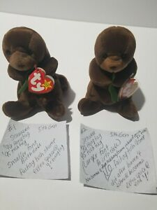 TY Beanie Babies Seaweed the Otter Many errors 1995/1996 Retired see photos MINT