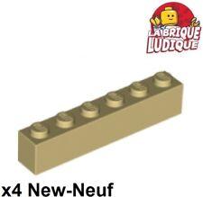 4 x LEGO® 3666 City,Basissteine,Bau-Steine in 1x6 flach rot Neuware