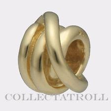 Authentic Trollbead 18k Gold Lucky Knot TrollBeads 21112