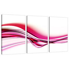 3 Piece Abstract Canvas Art Pictures UK Pink Girls Bedroom Prints 3030