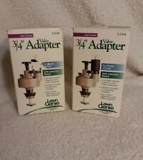 """LAWN GENIE L1034 3/4"""" VALVE ADAPTER BRASS VALVES MANUAL TO AUTOMATIC (2) NOS"""