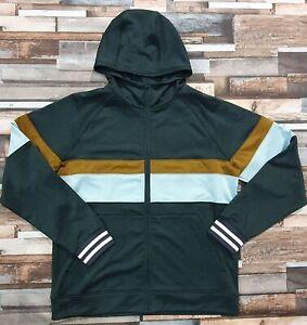 Cotopaxi Bandera Hooded Full-Zip Hoodie, Dark Forest Stripes, Men's Medium