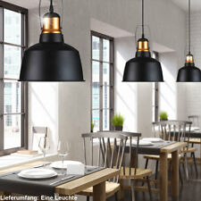 Retro Decken Hänge Leuchte Landhaus Stil Ess Zimmer Pendel Lampe ALU Schwarz E27