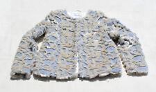 M&S INDIGO COLLECTION MARKS & SPENCER Women Jacket Cardigan Faux Fur White Grey