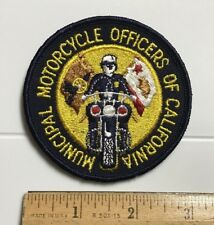 Municipal Motorcycle Offices of California CA Police Round Embroidered Patch