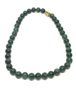 """Green Sparkle Glass or agate 14"""" Choker Necklace"""