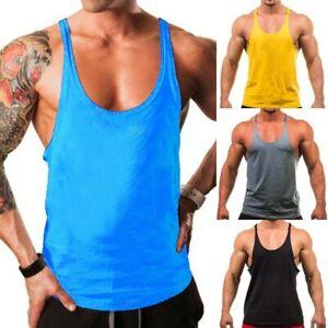 Gym Mens Muscle Sleeveless Tank Top T-Shirt Bodybuilding Sport Fitness Tee Vest