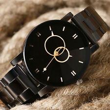 Fashion Men Women Sport Quartz Watches Circles Stainless Steel Band Wristwatch