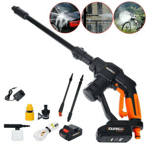 20V Car Cordless Pressure Cleaner Washer Battery Charger Portable Multifunction