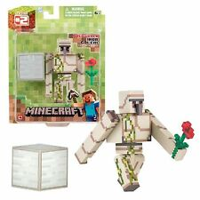 "MINECRAFT OVERWORLD IRON GOLEM 3"" FIGURE - ARTICULATED BRAND NEW IN BOX"