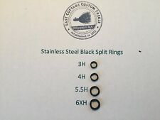 Black Stainless Steel Split Rings Rosco Terminal Tackle 6Xh, 5.5H, 4H, 3H