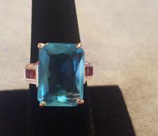 Blue stone rose tone metal New listing Womens fashion ring size 9