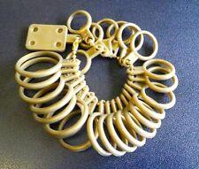 25 Plastic RINGS MEASURE Size FINGER Ring Sizing Measuring Gauge 1 to 13 Sizer