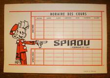SPIROU HORAIRE DES COURS Lot de 3 cartons Années 60