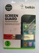 IPHONE 5 5c 5s & Se Drei X Transparent & Reparatur von Belkin Klar