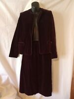 """80s Velvet Suit-36"""" Bust-Size 4-Charan-Holiday Party Office Large Special Event"""