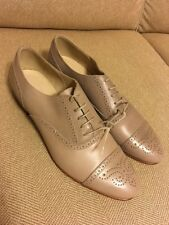 New J Crew Wing Tip Oxfords in Mushroom Sz  9.5  A5094 $258 Sold Out!