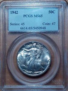1942 Walking Liberty Half Dollar PCGS MS-65  Great Strike!