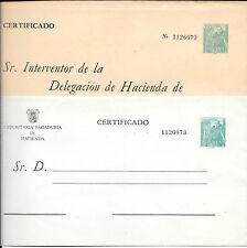 España. 2 SEP con sellos de Franco de 1.80 Pta sin circular