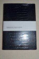 MONT BLANC Fine Stationary Black Croco Print Notebook #146 Brand New