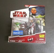 Yoda & Jek 2009 2 of 2 STAR WARS The Clone Wars TCW MOC Walmart