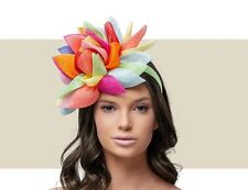 9fe08987 BRAND NEW MULTICOLORED FASCINATOR ASCOT Wedding Occasion formal Hat RACES