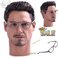 """1/6 Scale Bendable Metal Glasses Spectacle Frame Accessories For 12"""" Figure"""