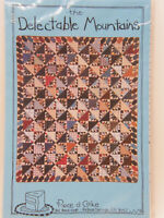 "The Delectable Mountains Scrap Quilt Pattern 66""x78"" Piece o' Cake Patterns NMIP"