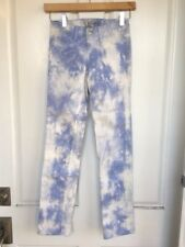 NWOT! Nordstrom Girls J BRAND Tie-Dye Straight Leg Jeans, 10 - Light Blue