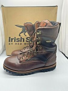 IRISH SETTER 882 ELK TRACKER HUNTING BOOTS MENS SIZE 14 B 2ND FLAW RED WING