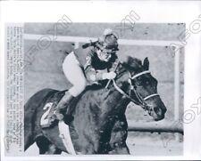 1969 Santa Anita Female Jockey Tuesdee Tesat Aboard Horse Gallarush Press Photo