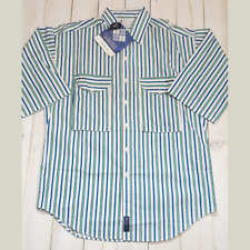Columbia Vintage 3/4 Sleeve Shirt NWT Mens Medium Striped Radial Sleeve Rare