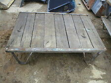 ANTIQUE INDUSTRIAL FACTORY FOUNDRY PLATFORM PALLET CART