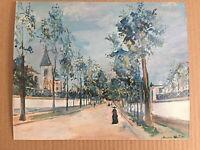 A Street in the Suburbs Maurice Utrillo Precious Miniatures Art Print