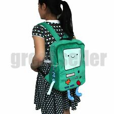 "Adventure Time Plush BMO Beemo Backpack Game Plush 15"" Shoulder bag Book Bag"