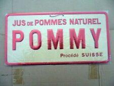 Antigua Publicidad de Cartón: Zumo Manzana Natural Pommy Forma Suizo 1950/60