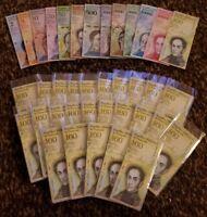 Venezuela 2-100000 Bolivares Full Set plus Bonus 1 Billion Zimbabwe Bill!