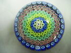 PERTHSHIRE PAPERWEIGHT - CLOSE PACKED CONCENTRIC MILLEFIORI, P CANE