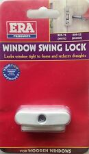 ERA WINDOW SWING LOCK WITH ONE KEY - WHITE FINISH - NEW